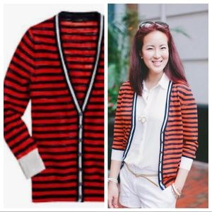J crew striped cardigan size:S